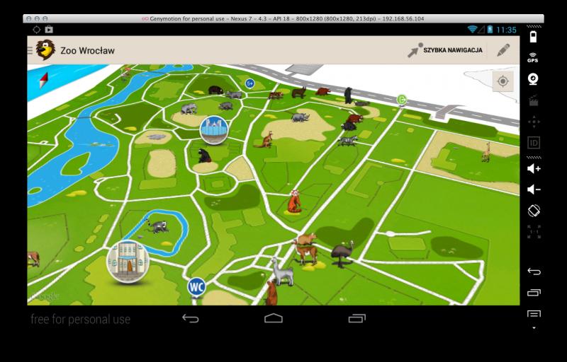 Mobilna mapa ZOO na iOS dostępna