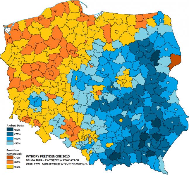 Wybory na mapie