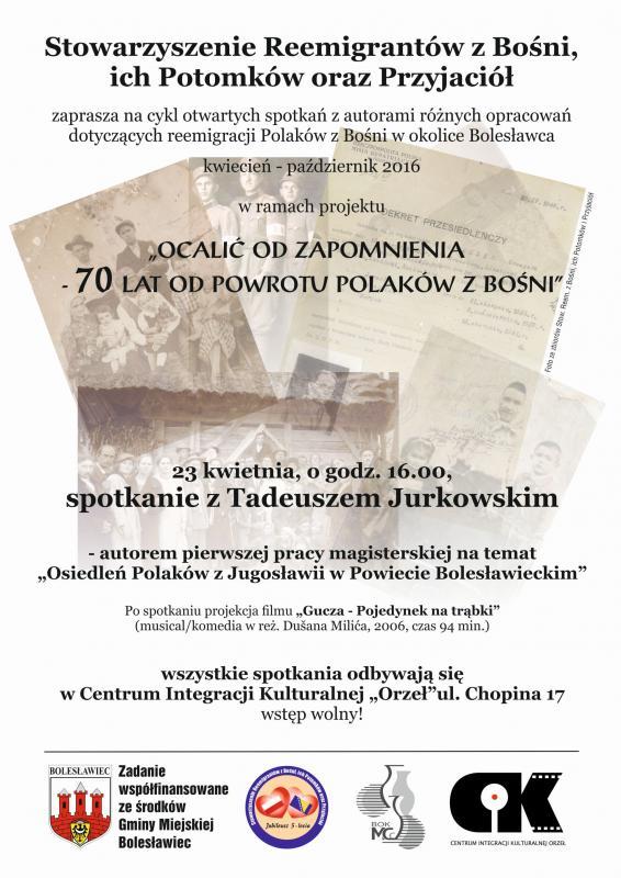 Ocalić odzapomnienia - 70 lat odpowrotu Polaków zBośni