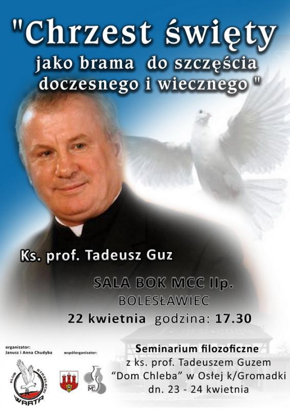 Spotkanie zKs. prof. Tadeuszem Guzem