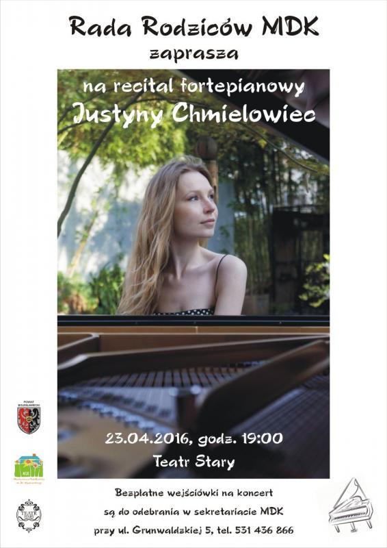 Koncert fortepianowy Justyny Chmielowiec