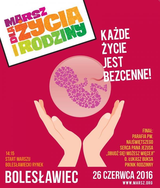 III Bolesławiecki Marsz dla Życia iRodziny