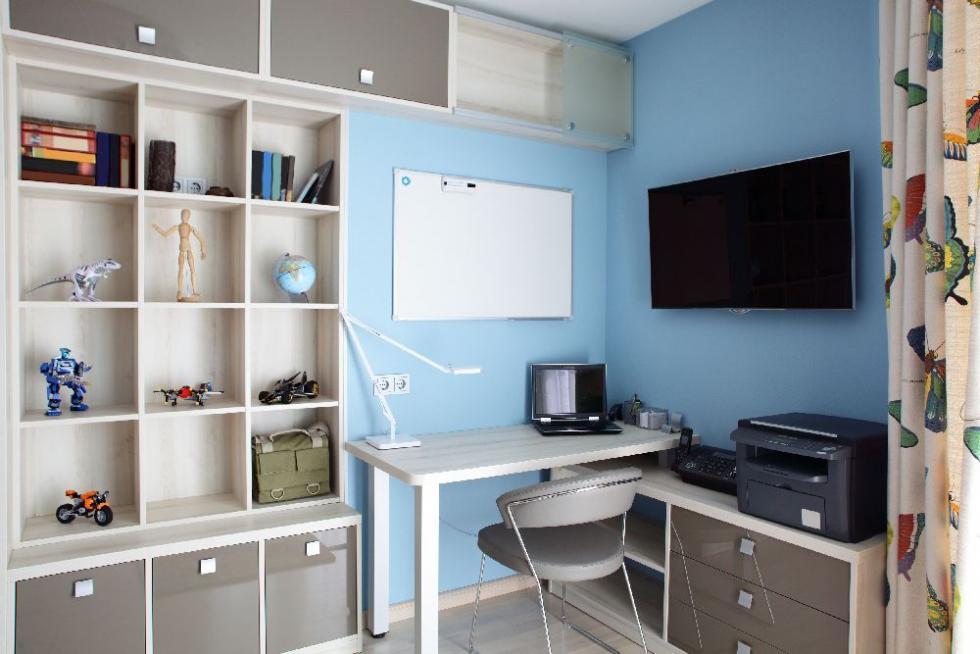 Niebieski pokój ucznia – kolory dla dziewczynki ichłopca