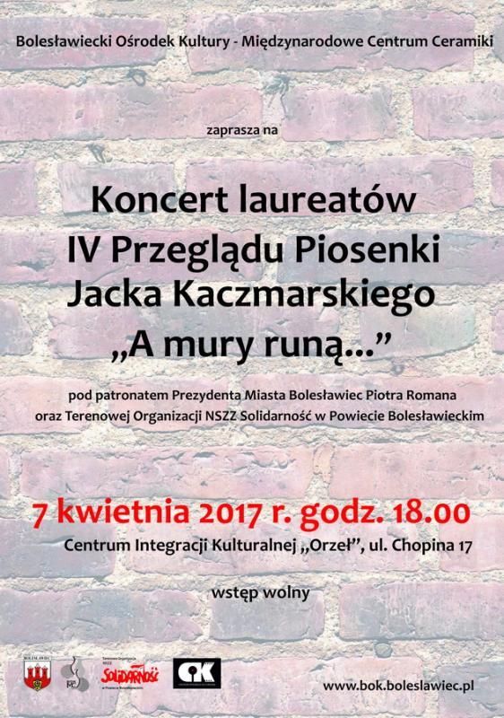Koncert laureatów IV Przeglądu Piosenek Jacka Kaczmarskiego