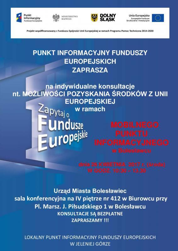 Mobilny Punkt Informacyjny  wBolesławcu - 26 kwietnia