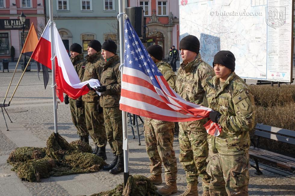 Pożegnanie żołnierzy amerykańskich