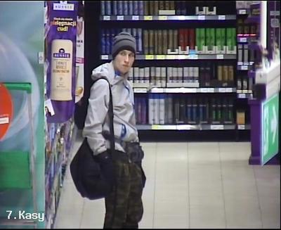 Policja szuka sprawcę kradzieży sklepowej