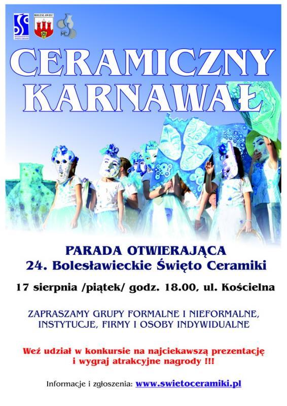 Weź udział wparadzie 24. Bolesławieckiego Święta Ceramiki iwygraj nagrody