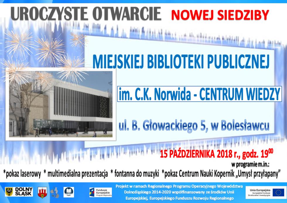 15 października otwarcie CENTRUM WIEDZY