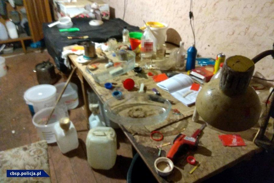 Zlikwidowane laboratorium metamfetaminy