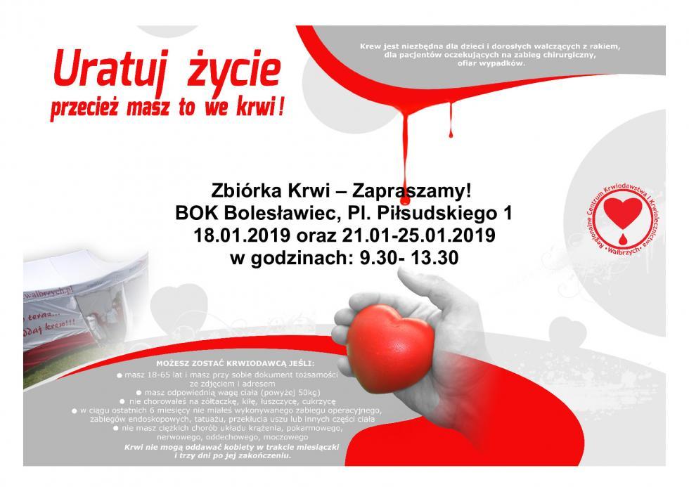 Oddaj krew wBolesławcu