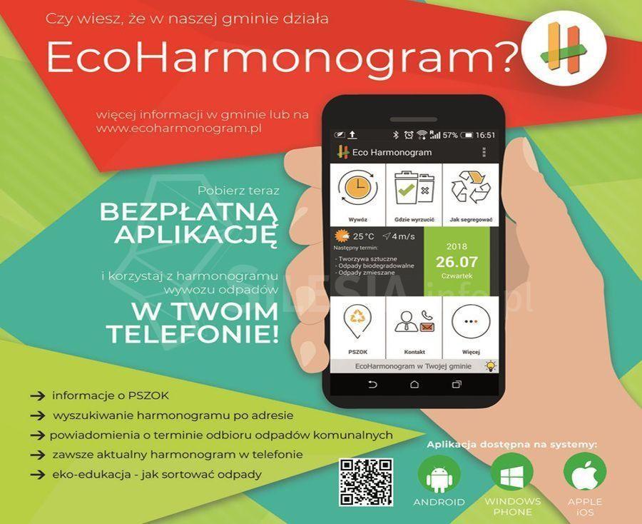 Masz bezpłatną aplikację EcoHarmonogram – wkażdej chwili możesz zgłosić odpady!