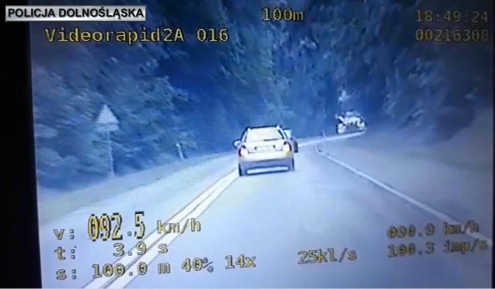 Kolejny kierowca stracił prawo jazdy za zbyt szybką jazdę