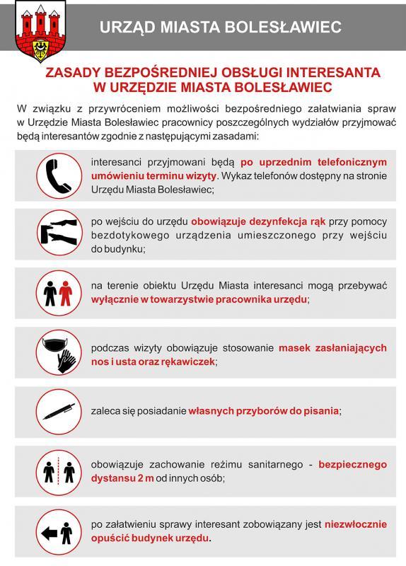 Możliwość bezpośredniego załatwiania spraw wUrzędzie Miasta Bolesławiec