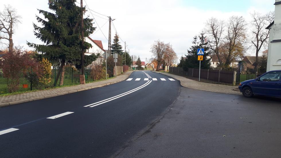 Droga wWierzbowej przebudowana